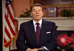 Image of President Ronald Reagan sends holiday greetings to people of Soviet Union Washington DC  USA, 1988, second 25 stock footage video 65675032118