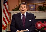 Image of President Ronald Reagan sends holiday greetings to people of Soviet Union Washington DC  USA, 1988, second 31 stock footage video 65675032118
