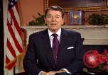 Image of President Ronald Reagan sends holiday greetings to people of Soviet Union Washington DC  USA, 1988, second 32 stock footage video 65675032118