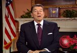 Image of President Ronald Reagan sends holiday greetings to people of Soviet Union Washington DC  USA, 1988, second 34 stock footage video 65675032118