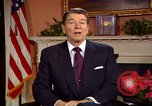 Image of President Ronald Reagan sends holiday greetings to people of Soviet Union Washington DC  USA, 1988, second 37 stock footage video 65675032118