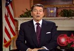 Image of President Ronald Reagan sends holiday greetings to people of Soviet Union Washington DC  USA, 1988, second 38 stock footage video 65675032118
