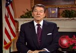 Image of President Ronald Reagan sends holiday greetings to people of Soviet Union Washington DC  USA, 1988, second 49 stock footage video 65675032118
