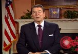 Image of President Ronald Reagan sends holiday greetings to people of Soviet Union Washington DC  USA, 1988, second 53 stock footage video 65675032118