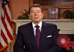 Image of President Ronald Reagan sends holiday greetings to people of Soviet Union Washington DC  USA, 1988, second 55 stock footage video 65675032118
