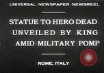 Image of honor to soldiers Rome Italy, 1930, second 1 stock footage video 65675032147