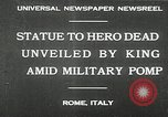 Image of honor to soldiers Rome Italy, 1930, second 2 stock footage video 65675032147