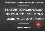 Image of honor to soldiers Rome Italy, 1930, second 3 stock footage video 65675032147