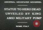 Image of honor to soldiers Rome Italy, 1930, second 5 stock footage video 65675032147