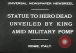 Image of honor to soldiers Rome Italy, 1930, second 10 stock footage video 65675032147