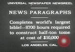 Image of largest Bible Los Angeles California USA, 1930, second 3 stock footage video 65675032148