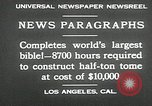 Image of largest Bible Los Angeles California USA, 1930, second 11 stock footage video 65675032148