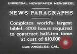 Image of largest Bible Los Angeles California USA, 1930, second 12 stock footage video 65675032148