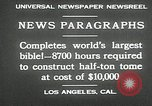 Image of largest Bible Los Angeles California USA, 1930, second 14 stock footage video 65675032148