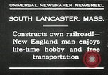 Image of railroad model South Lancaster Massachusetts USA, 1930, second 2 stock footage video 65675032150