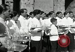 Image of saloon waiters Rome Italy, 1930, second 1 stock footage video 65675032163