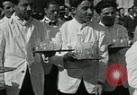 Image of saloon waiters Rome Italy, 1930, second 10 stock footage video 65675032163