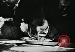 Image of spaghetti eating competition United States USA, 1950, second 8 stock footage video 65675032172