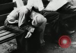 Image of unemployed men during great depression Newark New Jersey USA, 1937, second 15 stock footage video 65675032186
