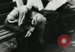 Image of unemployed men during great depression Newark New Jersey USA, 1937, second 16 stock footage video 65675032186