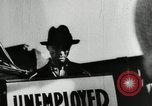 Image of unemployed men during great depression Newark New Jersey USA, 1937, second 18 stock footage video 65675032186