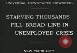 Image of unemployment crisis during great depression New York City USA, 1930, second 1 stock footage video 65675032192