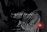 Image of African American artist Augusta Savage United States USA, 1937, second 10 stock footage video 65675032252