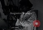 Image of African American artist Augusta Savage United States USA, 1937, second 11 stock footage video 65675032252