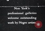 Image of African American artists New York United States USA, 1937, second 1 stock footage video 65675032265
