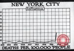 Image of chart of 1918 Spanish flu deaths in New York New York City USA, 1924, second 26 stock footage video 65675032277