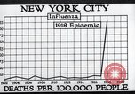 Image of chart of 1918 Spanish flu deaths in New York New York City USA, 1924, second 31 stock footage video 65675032277