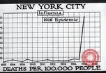 Image of chart of 1918 Spanish flu deaths in New York New York City USA, 1924, second 32 stock footage video 65675032277