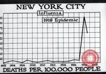 Image of chart of 1918 Spanish flu deaths in New York New York City USA, 1924, second 33 stock footage video 65675032277