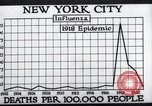 Image of chart of 1918 Spanish flu deaths in New York New York City USA, 1924, second 40 stock footage video 65675032277