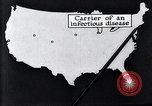 Image of way the disease spreads through US map United States USA, 1922, second 28 stock footage video 65675032294