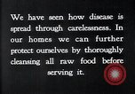 Image of preventing disease and cleansing raw food United States USA, 1922, second 11 stock footage video 65675032295