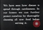 Image of preventing disease and cleansing raw food United States USA, 1922, second 14 stock footage video 65675032295