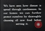 Image of preventing disease and cleansing raw food United States USA, 1922, second 15 stock footage video 65675032295
