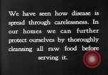 Image of preventing disease and cleansing raw food United States USA, 1922, second 16 stock footage video 65675032295
