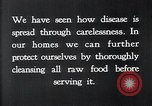 Image of preventing disease and cleansing raw food United States USA, 1922, second 17 stock footage video 65675032295