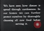 Image of preventing disease and cleansing raw food United States USA, 1922, second 18 stock footage video 65675032295