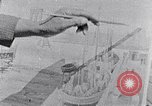 Image of Palmer Hayden painting the Brooklyn bridge New York City USA, 1937, second 19 stock footage video 65675032300