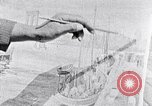 Image of Palmer Hayden painting the Brooklyn bridge New York City USA, 1937, second 30 stock footage video 65675032300