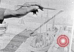 Image of Palmer Hayden painting the Brooklyn bridge New York City USA, 1937, second 31 stock footage video 65675032300