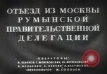 Image of Romanian delegation in Moscow Moscow Russia Soviet Union, 1948, second 13 stock footage video 65675032337