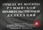 Image of Romanian delegation in Moscow Moscow Russia Soviet Union, 1948, second 14 stock footage video 65675032337