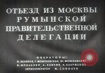 Image of Romanian delegation in Moscow Moscow Russia Soviet Union, 1948, second 15 stock footage video 65675032337