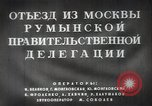 Image of Romanian delegation in Moscow Moscow Russia Soviet Union, 1948, second 16 stock footage video 65675032337