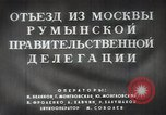 Image of Romanian delegation in Moscow Moscow Russia Soviet Union, 1948, second 17 stock footage video 65675032337