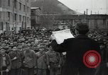 Image of Bulgarian citizens signing letter of appreciation Sofia Bulgaria, 1947, second 8 stock footage video 65675032349